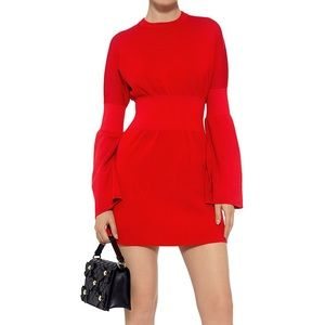 Tibi Merino Wool bell sleeve knit dress